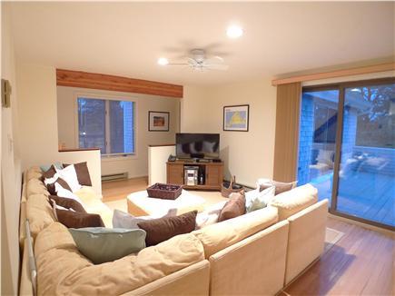 West Tisbury Martha's Vineyard vacation rental - 2nd Fl Media room with deck.