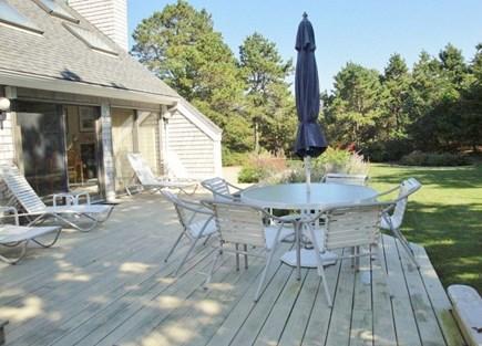West Tisbury Martha's Vineyard vacation rental - Back deck for entertaining !!!