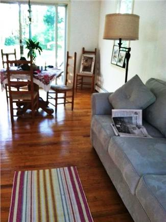 Oak Bluffs Martha's Vineyard vacation rental - Looking out past dining area thru glass doors to deck and yard