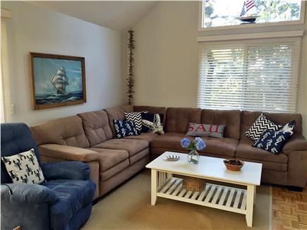 Katama - Edgartown, Edgartown (Katama) Martha's Vineyard vacation rental - Living room with access thru sliders to the deck