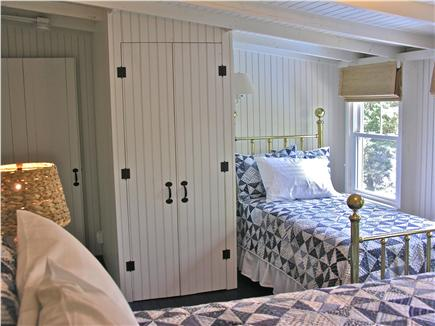 Oak Bluffs Martha's Vineyard vacation rental - Blue Bedroom - antique twin brass bed