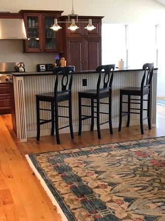 Edgartown, Sengekontacket Pond Martha's Vineyard vacation rental - Modern kitchen with breakfast bar