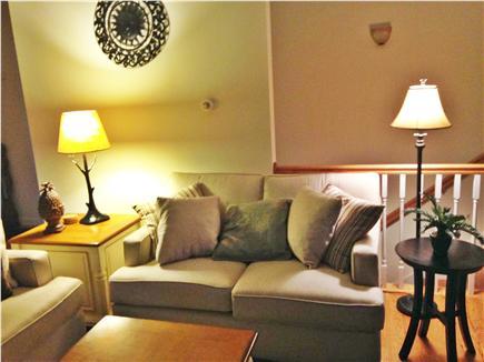 Edgartown, Sengekontacket Pond Martha's Vineyard vacation rental - Spacious living room w/sliders to balcony deck