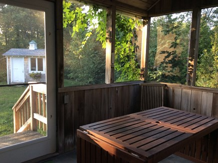 Oak Bluffs Martha's Vineyard vacation rental - porch sun room and back yard