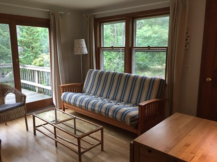 Oak Bluffs Martha's Vineyard vacation rental - Living room with sliders to the deck