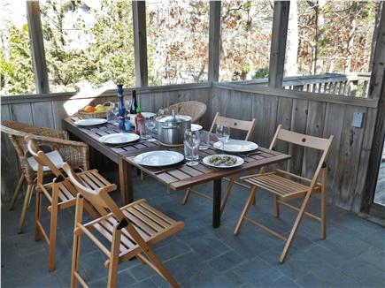 Oak Bluffs Martha's Vineyard vacation rental - Screened porch seats 6 and opens to deck