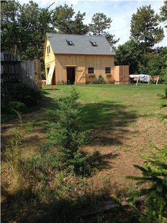 Oak Bluffs Martha's Vineyard vacation rental - Back yard garage and outdoor shower