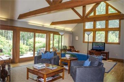 Vineyard Haven Martha's Vineyard vacation rental - Spacious and sunny great room overlooking patio