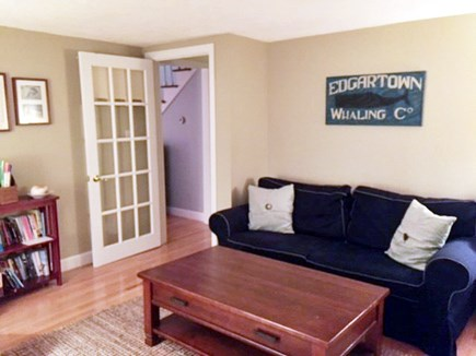 Edgartown Martha's Vineyard vacation rental - Family Room (with TV and pull-out couch)