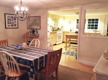 Edgartown Martha's Vineyard vacation rental - Dining Room with view to kitchen