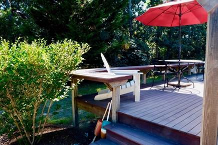 Katama - Edgartown, Edgartown Martha's Vineyard vacation rental - Outside deck.