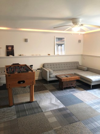 Katama - Edgartown Martha's Vineyard vacation rental - Finished Basement: TV, games & full door entrance to back yard