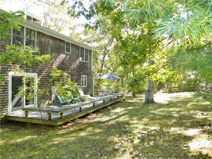 West Tisbury Martha's Vineyard vacation rental - Enjoy meals and relaxing on deck, private yard