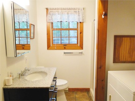 West Tisbury Martha's Vineyard vacation rental - Full bathroom with laundry on main floor
