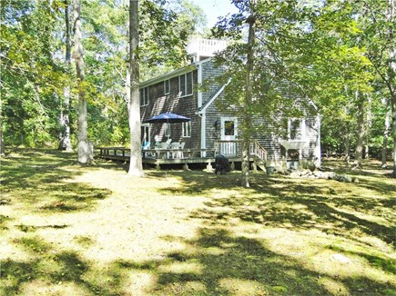 West Tisbury Martha's Vineyard vacation rental - Large back yard with deck