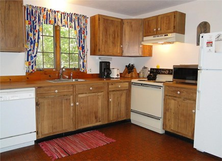 West Tisbury Martha's Vineyard vacation rental - Kitchen area with door to deck