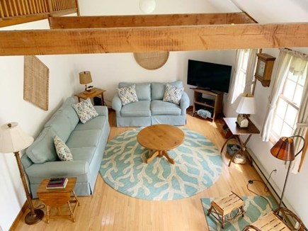West Tisbury Martha's Vineyard vacation rental - Spacious living room with vaulted ceilings