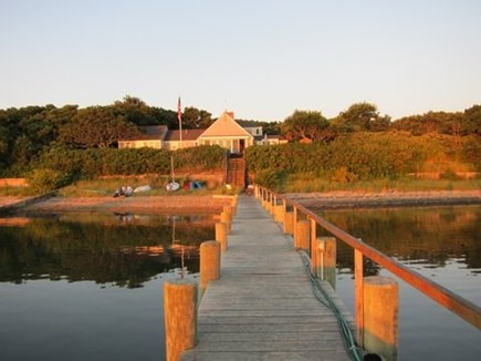 Katama - Edgartown Martha's Vineyard vacation rental - View of the Main House From the Dock