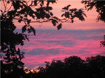 Edgartown Martha's Vineyard vacation rental - Stunning sunsets seen from almost anywhere on property.