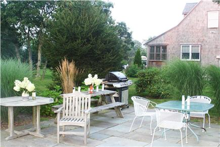 Edgartown Martha's Vineyard vacation rental - The firepit patio makes for sunset dining too!