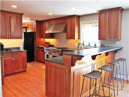 Edgartown Martha's Vineyard vacation rental - Kitchen that shares open floor plan with living/dining space