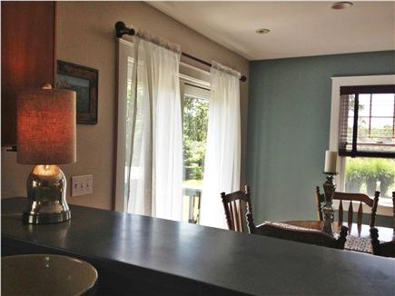 Edgartown Martha's Vineyard vacation rental - View from kitchen ~ dining area with direct access to large porch