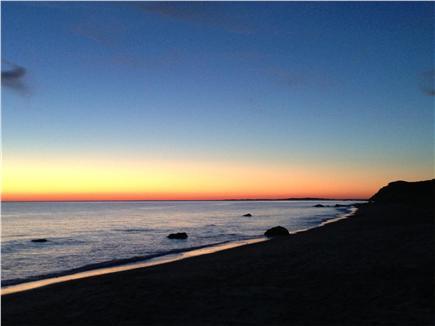 Aquinnah Martha's Vineyard vacation rental - Sunset from spectacular Philbin beach just down the road