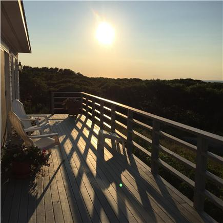 Aquinnah Martha's Vineyard vacation rental - Back deck has ample space to enjoy and relax