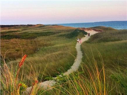 Aquinnah Martha's Vineyard vacation rental - Path to exclusive and beautiful nearby Philbin beach