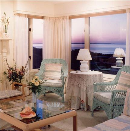 Aquinnah Martha's Vineyard vacation rental - Living Room at Sunset