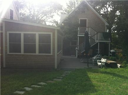 Oak Bluffs, East Chop Martha's Vineyard vacation rental - Back yard, deck and garage apartment.