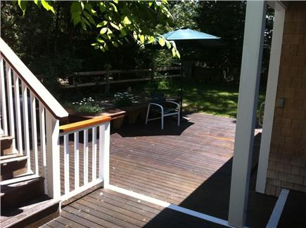 Oak Bluffs, East Chop Martha's Vineyard vacation rental - Back deck and stairs to garage apartment