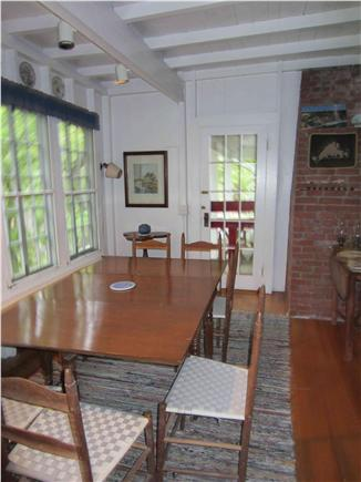 Oak Bluffs, East Chop Martha's Vineyard vacation rental - Dining room-- we fit twelve around this table