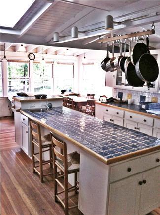 Oak Bluffs, East Chop Martha's Vineyard vacation rental - Kitchen looking towards back yard deck