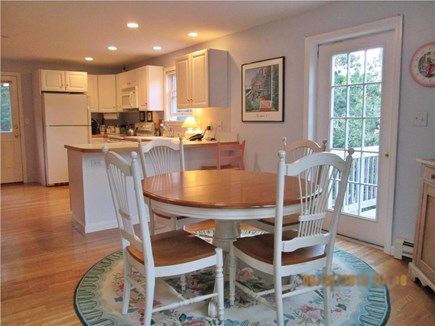 Vineyard Haven, West Chop Martha's Vineyard vacation rental - Dining area (seats 6) opens to deck
