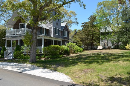 Oak Bluffs, East Chop Martha's Vineyard vacation rental - Large side yard to play