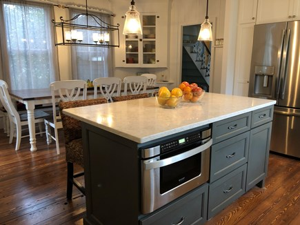 Oak Bluffs, East Chop Martha's Vineyard vacation rental - New kitchen with large custom farmhouse table