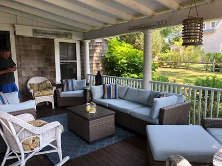 Oak Bluffs, East Chop Martha's Vineyard vacation rental - Porch coffee  - plenty of space for all to enjoy!