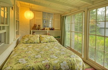 Oak Bluffs Martha's Vineyard vacation rental - Second Bedroom, with garden view.