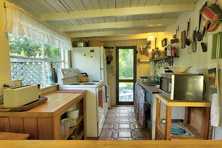 Oak Bluffs Martha's Vineyard vacation rental - Kitchen has easy pass-through access to dining area.