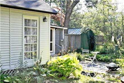 Oak Bluffs Martha's Vineyard vacation rental - Gardens continue along the side yard and patio.