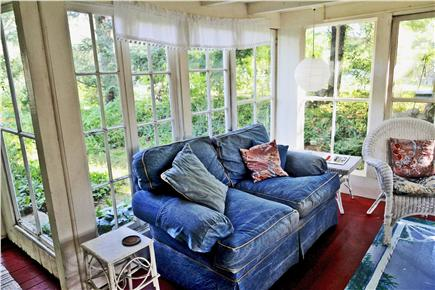 Oak Bluffs Martha's Vineyard vacation rental - A comfy couch extends the dining area to a happy meeting place.