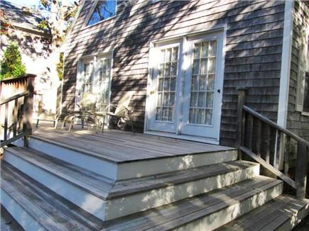 Oak Bluffs Lagoon Pond area Martha's Vineyard vacation rental - Sunny and comfortable deck for outdoor living