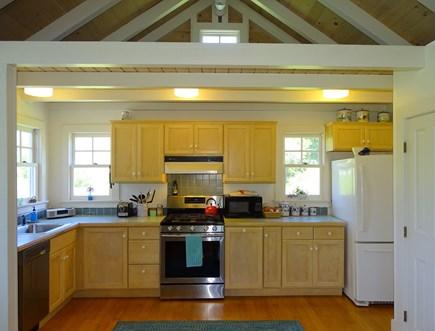 Chilmark Martha's Vineyard vacation rental - Modern kitchen with appliances, view of water