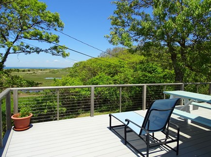 Chilmark Martha's Vineyard vacation rental - Lovely deck with sitting area, grill, views of marsh