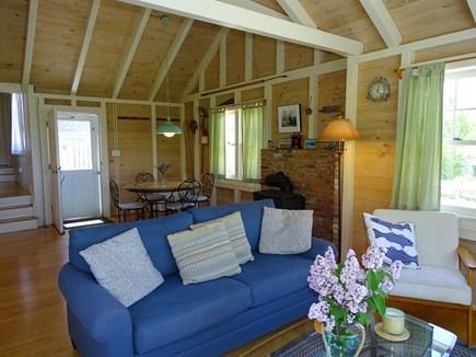 Chilmark Martha's Vineyard vacation rental - Dining area located beyond living room