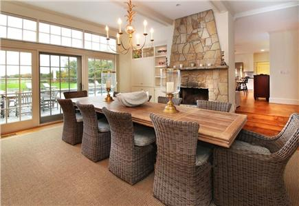 West Tisbury Martha's Vineyard vacation rental - Dining Room with French doors to the pool patio