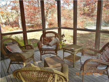 West Tisbury Martha's Vineyard vacation rental - Screened porch, just off dining room