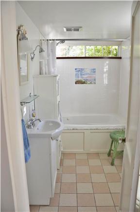 Edgartown Village Martha's Vineyard vacation rental - Downstairs bathroom with whirlpool tub