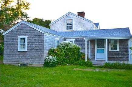 Edgartown Village Martha's Vineyard vacation rental - Entrance to house with porch from parking area